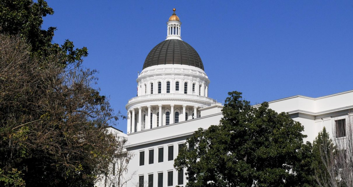 California State Capitol dome shines against blue sky